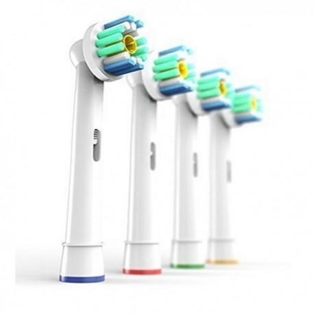 4 TESTINE 3D WHITE COMPATIBILI ORAL B SPAZZOLINO ELETTRICO TESTINA COMPATIBILE