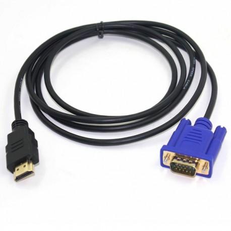 Cavo Convertitore Adattatore Da HDMI a VGA 1MT HD Nuovo