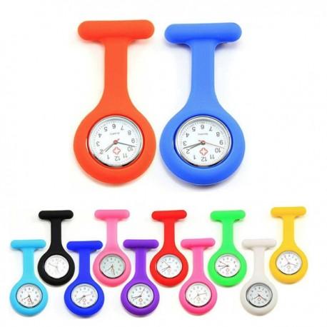 Orologio da Tasca Infermiera Dottore Spilla Quarzo Nurse Pocket Watch