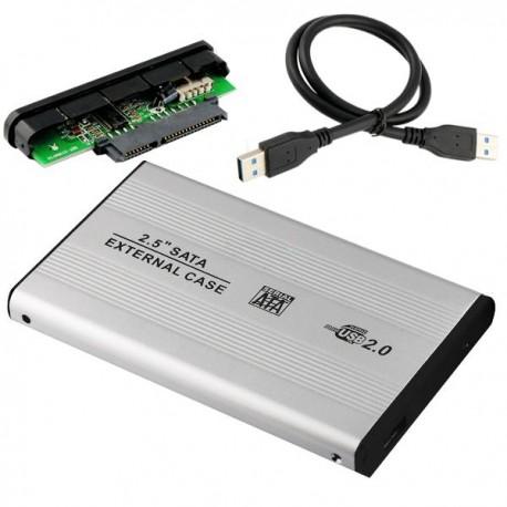 CASE BOX SLIM ESTERNO PER HARD DISK 2.5 SATA S-ATA HDD USB 2.0 ADATTATORE