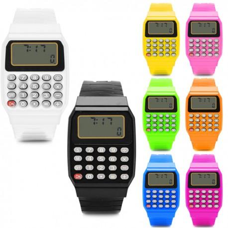 orologio calcolatrice multiuso unisex uomo donna bambino scuola