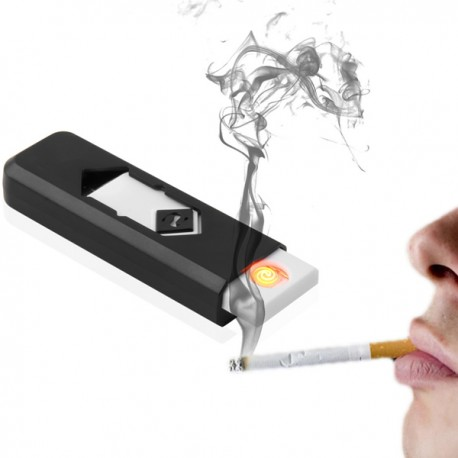ACCENDINO USB ANTIVENTO IDEA REGALO ELETTRONICO COMPATTO LED LUCE GADGET