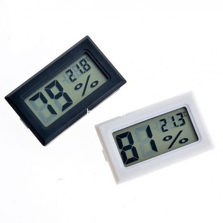 Mini Termometro Igrometro Digitale LCD Display Tester Umidita Temperatura Bianco