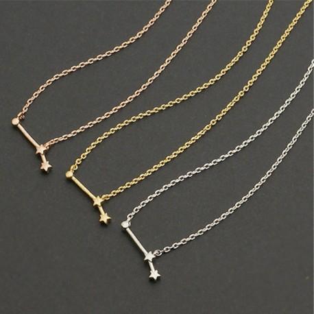 Collana Zodiaco Costellazione Segno Zodiacale Collana placcata oro argento bronzo