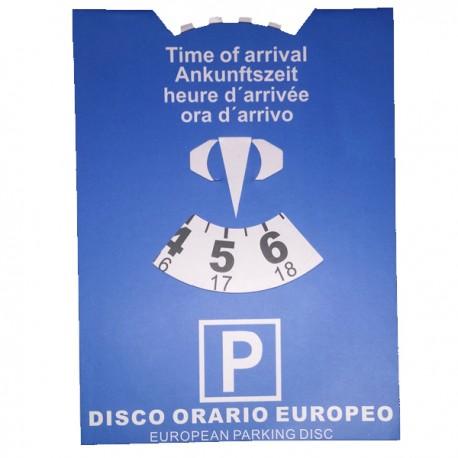 Disco orario europeo cartoncino rigido auto macchina camion camper parcheggio