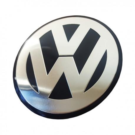 1 COPRIMOZZO ADESIVO CON LOGO IN RILIEVO IN METALLO 90MM PER VW