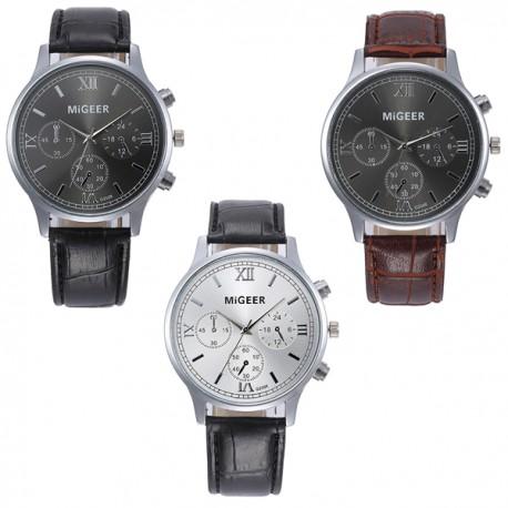 Orologio CLASSICO originale cinturino MIGEER orologio uomo fashion pelle casual quarzo