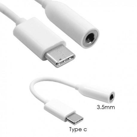 CAVO USB MASCHIO 3.1 TYPE C JACK FEMMINA 3,5 MM MUSICA CUFFIE CONVERTITORE
