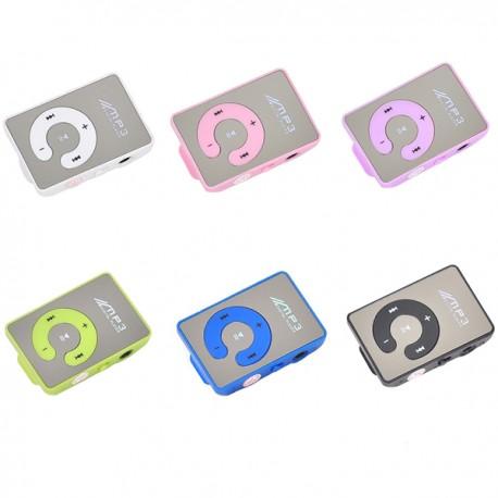 LETTORE MP3 TASCABILE SUPPORTA SD SPORT CLIP COLORI BLU BIANCO ROSA