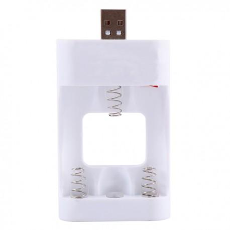 CARICABATTERIE USB AA AAA STILO MINISTILO BATTERIE BIANCO PILE RICARICARE